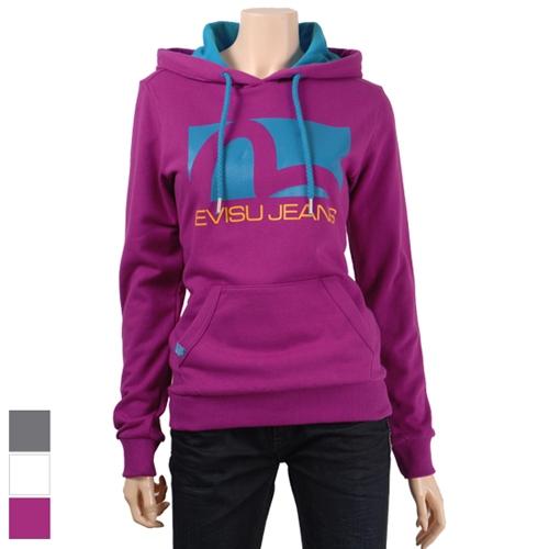 [EVISU] EJ3HT950_VI Hooded T-Shirt - WOMEN