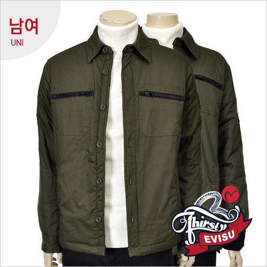 Uni _ pocket-type strain quilting outerwear Shirt_EN4NB312_KH