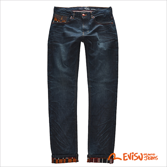 [Star shop ★] EM8JP012_RE embossed brush pants Slim Straight Jeans - MEN